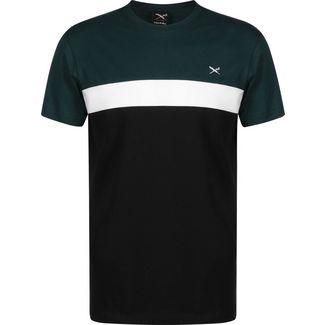 iriedaily Court T-Shirt Herren schwarz/grün