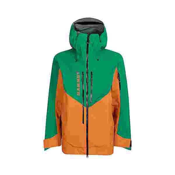 Mammut GORE-TEX La Liste Pro Hooded Hardshelljacke Herren tumeric-deep emerald