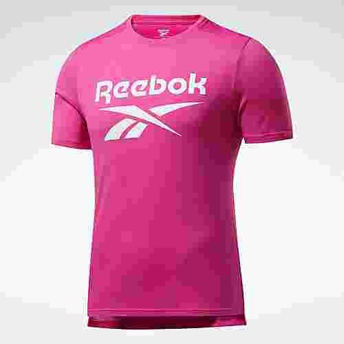 Reebok Workout Ready Supremium Graphic T-Shirt Funktionsshirt Herren Rosa