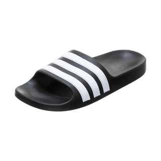 adidas Aqua Adilette Sandalen Kinder schwarz / weiß