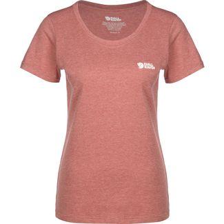 FJÄLLRÄVEN Logo W T-Shirt Damen rot/meliert