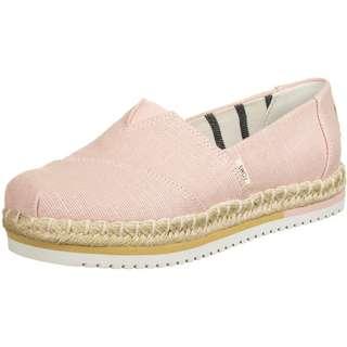 Toms Canvas Platform Sneaker Damen pink