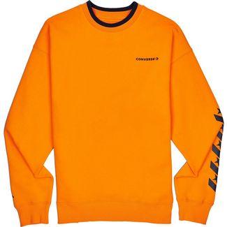 CONVERSE Repeated Star Chevron Mock Neck Crew Sweatshirt Herren orange