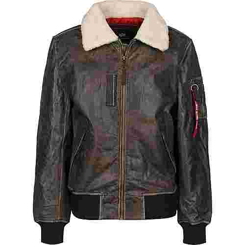 Alpha Industries Injector III Leather Winterjacke Herren braun