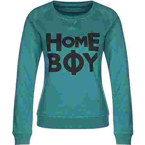 homeboy Bold Logo-58 W Sweatshirt Damen türkis