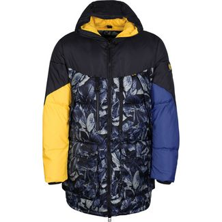 Element Griffin Sleeping Bag Daunenjacke Herren blau/gelb