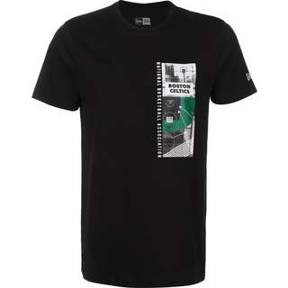 New Era NBA Photo Print Boston Celtics T-Shirt Herren schwarz