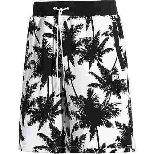 PUMA Palm Tree Shorts Herren weiß/schwarz