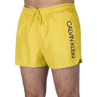Calvin Klein Short Runner-Logo Boardshorts Herren gelb