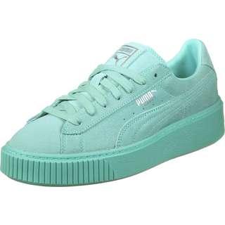 PUMA Basket Platform Reset W Sneaker Damen türkis/blau