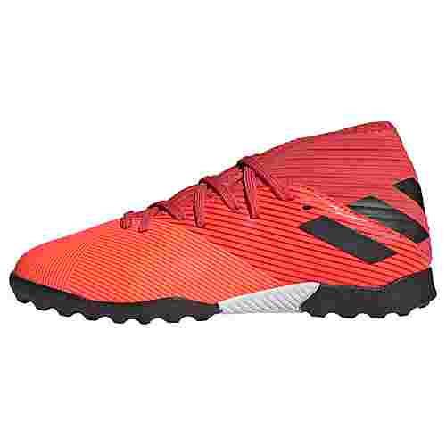 adidas Nemeziz 19.3 TF Fußballschuh Fußballschuhe Kinder Signal Coral / Core Black / Glory Red