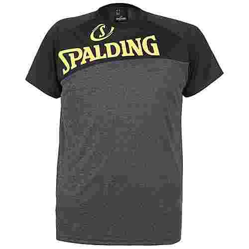 Spalding Street T-Shirt Herren dunkelgrau / neongelb