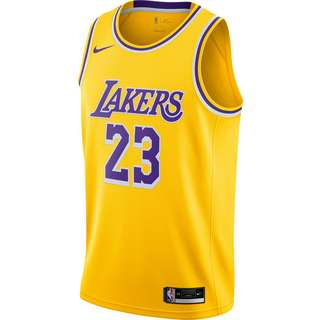 Nike James LeBron Los Angeles Lakers Basketballtrikot Herren amarillo-field purple