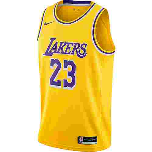 Nike James LeBron Los Angeles Lakers Trikot Herren amarillo-field purple
