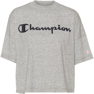CHAMPION Croptop Damen new oxford grey melange yarn dyed