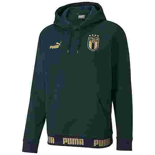 PUMA Italien FtblCulture EM 2020 Hoodie Herren dunkelgrün / gold