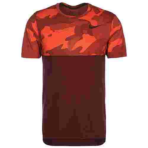 Nike Hyper Dry Camo Funktionsshirt Herren weinrot / orange