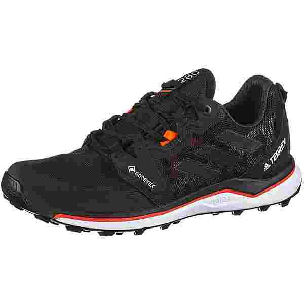 adidas GTX Agravic Trailrunning Schuhe Damen core black-crystal white-solar red