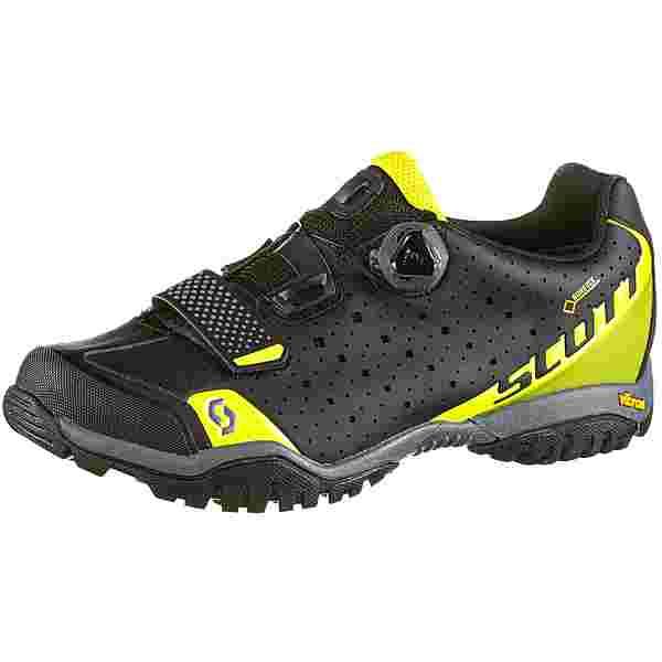 SCOTT GTX Sport Trail Evo Fahrradschuhe Herren caviar black-sulphur yellow