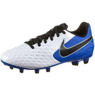 Nike Jr. Tiempo Legend 8 Academy MG Fußballschuhe Kinder white-black-hyper royal-metallic silver