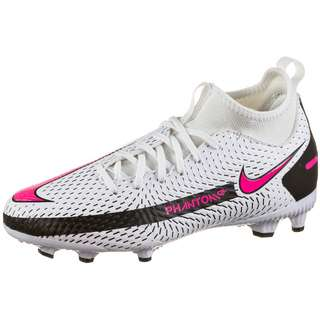 Nike JR PHANTOM GT ACADEMY DF FG/MG Fußballschuhe Kinder white-pink blast-black