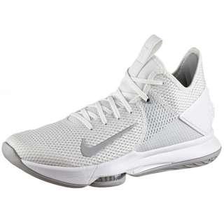 Nike LeBron Witness IV Basketballschuhe Herren white-wolf grey-pure platinum