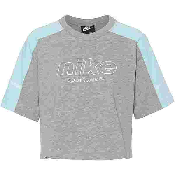 Nike NSW T-Shirt Damen dk grey heather-glacier ice-white