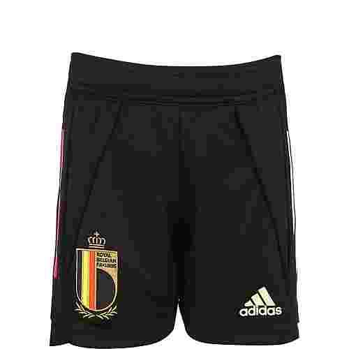 adidas RBFA Belgien EM 2020 Fußballshorts Kinder schwarz