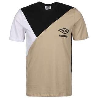 UMBRO Colourblock T-Shirt Herren beige / schwarz