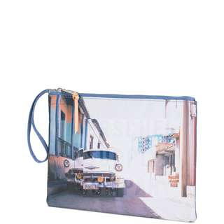 Herschel Network Pouch Large Tablet Tasche bunt / lila