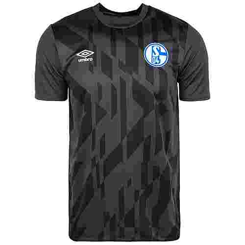 UMBRO FC Schalke 04 Warm Up Fanshirt Herren anthrazit / schwarz