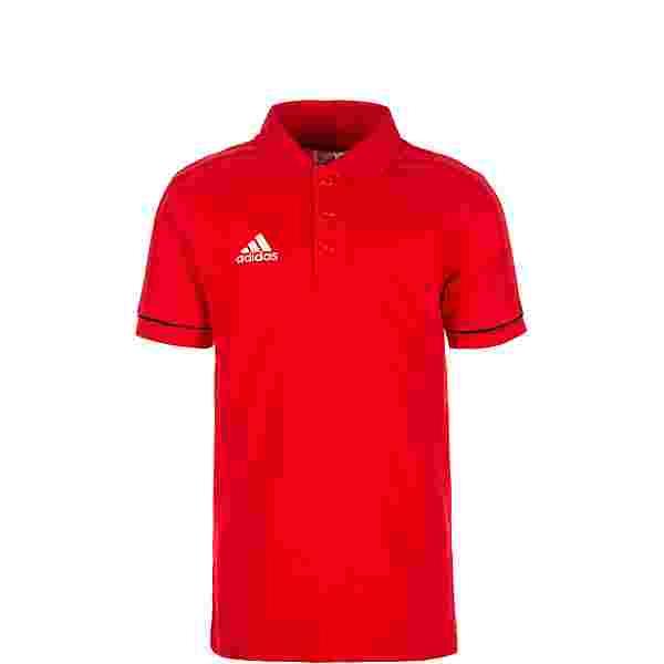 adidas Tiro 17 Poloshirt Kinder rot / schwarz / weiß