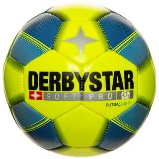 Derbystar Soft Pro Light Futsal Fußball neongelb / türkis