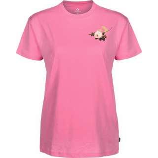 CONVERSE Floral Basketball Relaxed W T-Shirt Damen pink