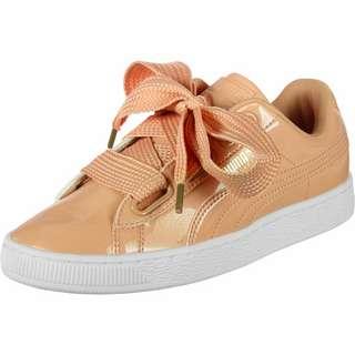 PUMA Basket Heart Patent W Sneaker Damen orange