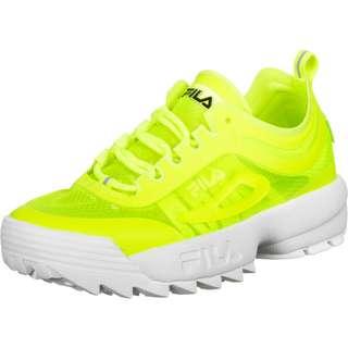 FILA Disruptor Run Sneaker Damen neon/gelb