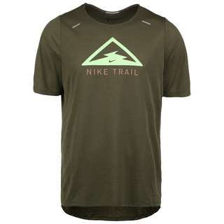 Nike Rise 365 Trail Laufshirt Herren oliv / hellgrün