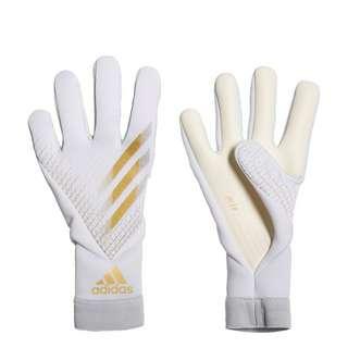 adidas X 20 Pro Junior Torwarthandschuhe Torwarthandschuhe Kinder White / Gold Metallic / Silver Metallic