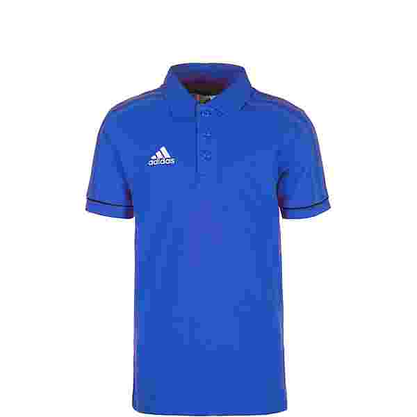 adidas Tiro 17 Poloshirt Kinder blau / weiß