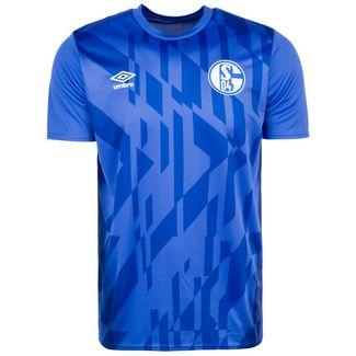 UMBRO FC Schalke 04 Warm Up Fanshirt Herren blau / weiß