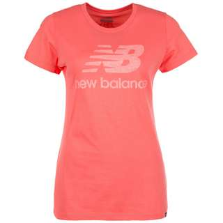 NEW BALANCE Heathered T-Shirt Damen korall