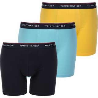 Tommy Hilfiger 3P Boxershorts Herren blau/gelb