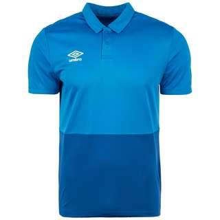 UMBRO Poly Poloshirt Herren blau / dunkelblau