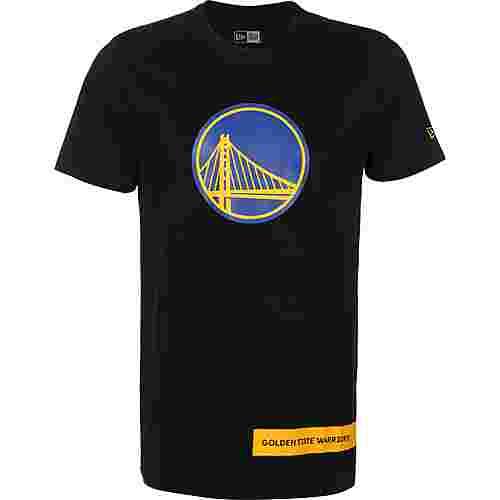 New Era NBA Block Wordmark Golden State Warriors T-Shirt Herren schwarz