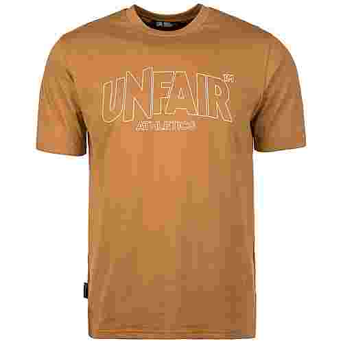 Unfair Athletics Classic Label Outline T-Shirt Herren hellbraun