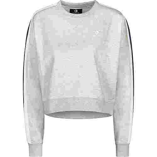 CONVERSE Star Chevron Track Cropped Crew W Sweatshirt Damen grau/meliert