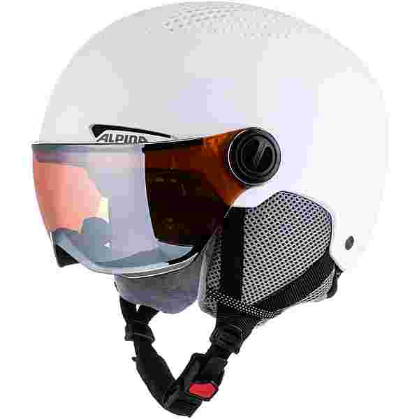 ALPINA VISOR Skihelm white matt
