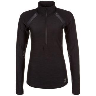 NEW BALANCE In Transit Half-Zip Laufshirt Damen schwarz