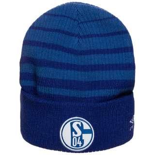 UMBRO FC Schalke 04 Two Colour Striped Beanie blau / weiß