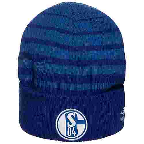 UMBRO FC Schalke 04 Two Colour Striped Beanie blau / weiß